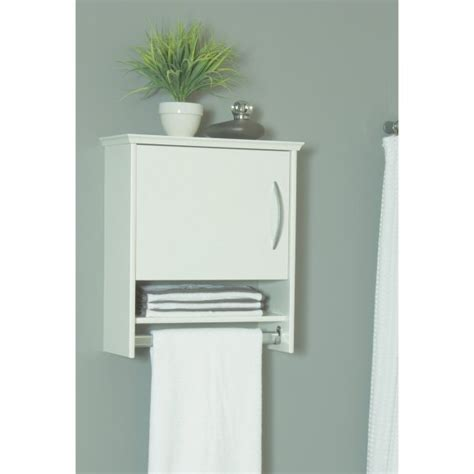 wall cabinet with towel bar 7 inch in bathroom