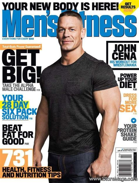 cena s fitness magazine cover united states april 2013 magazine covers from