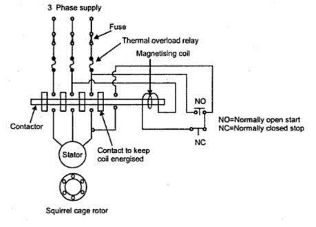 abb dol starter wiring diagram k
