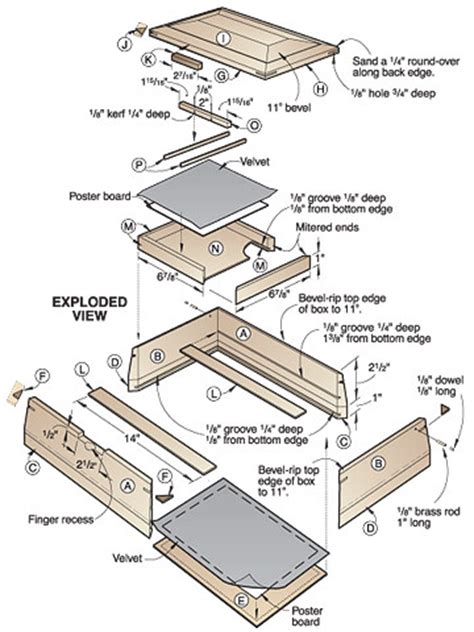wood shop guide   woodworking plans  jewelry boxes