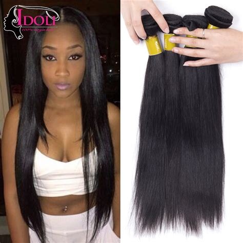 ally express jet black straight rosa idoli hair products malaysian straight hair 4 bundle deals