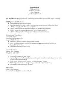 Automotive Collision Repair Cover Letter by Auto Repair Resume Sle