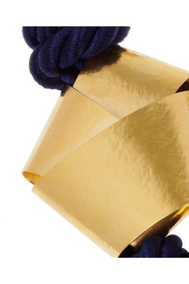 Knotted Rope Intl herv 233 der straeten hammered gold plated rope