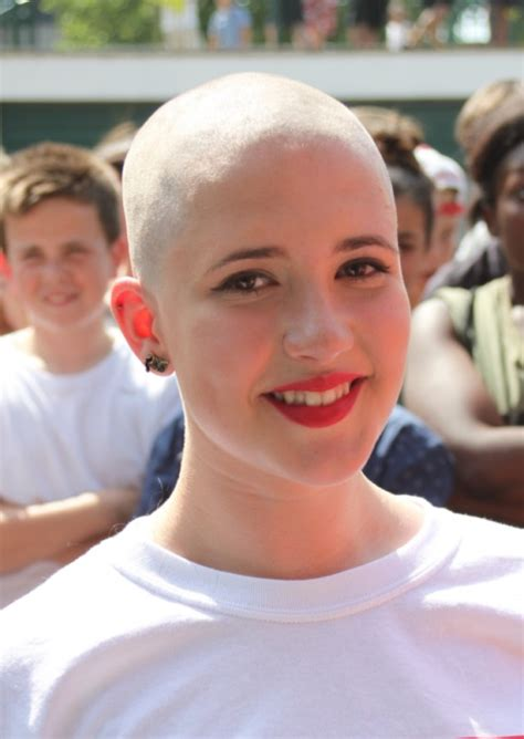 after girls headshave stevenage charity head shave student threatened with