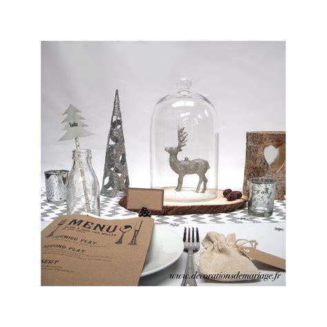 Superbe Decoration De Table De Noel Blanche #1: decoration-de-table-de-noel-bois-et-argent-paille-sapin-marque-place.jpg