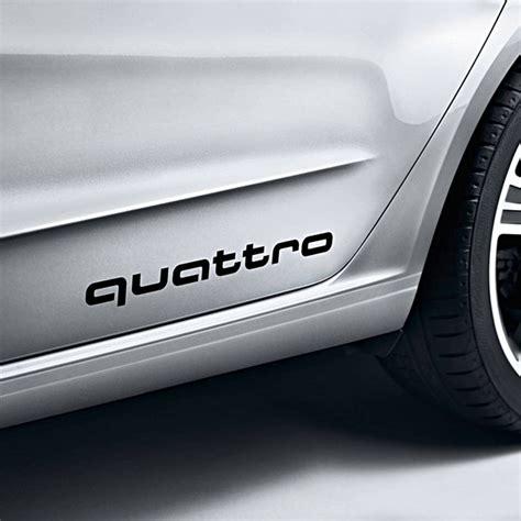 Quattro Aufkleber Audi by Quattro Sticker Zwart Audi Webshop