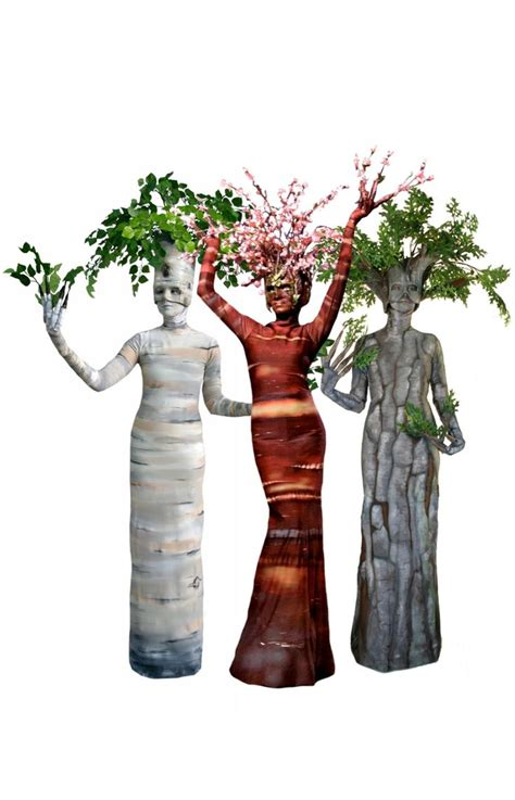 birch tree blossom tree oak tree living statues