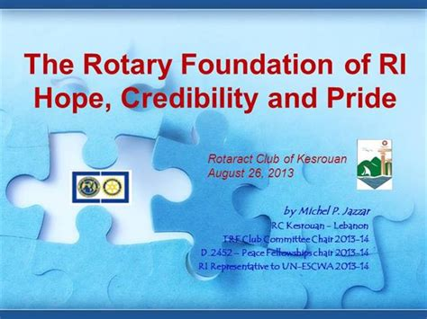 rotary international business card template the rotary international and its foundation 2013 authorstream