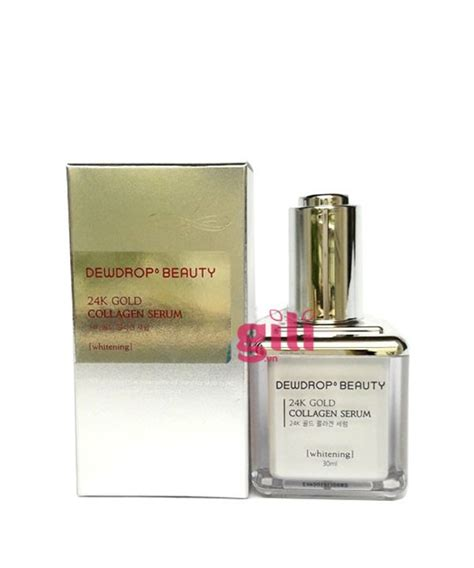 Serum Gold Collagen serum h 224 n quốc dewdrop 24k gold collagen whitening 30ml