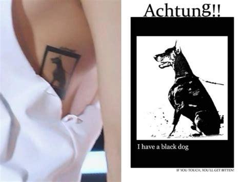 cnblue jonghyun tattoo jonghyun shinee has tattooed the symbol of depression