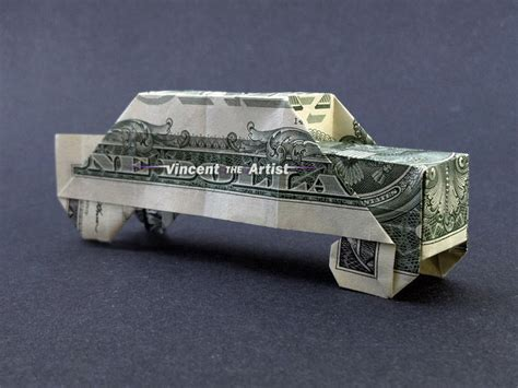 money origami car money origami car dollar bill made with real 1
