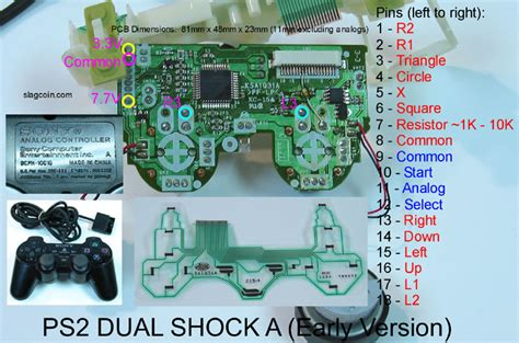 variable resistor stik ps2 joystick controller pcb and wiring