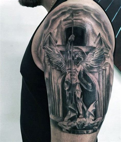 archangel michael tattoos for men st michael for males on arm