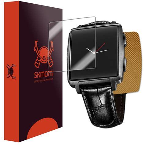 Smartwatch Omate X skinomi techskin omate x smartwatch gold carbon fiber skin protector