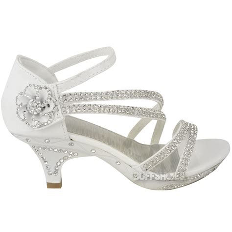 Bridesmaid Shoes Sandals by New Low Heel Wedding Diamante Sandals
