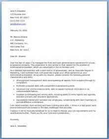 Exles Of Cover Letters For Administrative Assistant by Administrative Assistant Cover Letter Exles Resume Downloads
