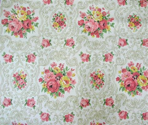 wallpaper dinding vintage flower vintage floral wallpaper pattern texture pinterest
