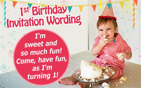 invitation wording for 1st birthday 16 great exles of 1st birthday invitation wordings