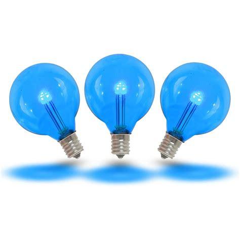 buy globe string lights blue led g40 glass globe light bulbs novelty lights
