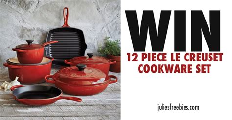 Le Creuset Sweepstakes - bonne maman win a 12 piece le creuset cookware set sweepstakes julie s freebies