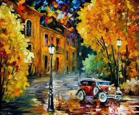 Urban Modern Decor by Leonid Afremov Oil On Canvas Palette Knife Buy Original