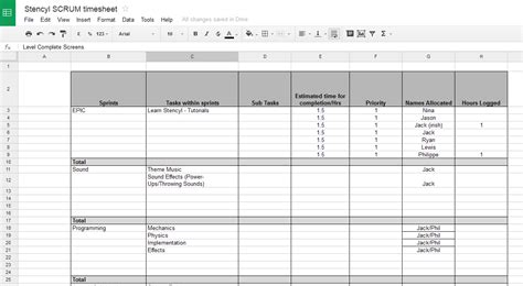 Scrum Excel Spreadsheet by Scrum Spreadsheet Template Laobingkaisuo