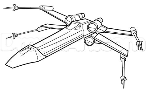X Wing Starfighter Coloring Page | free coloring pages of x wing fighter star wars x wing