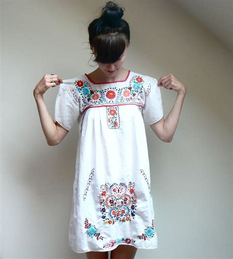 mexican style embroidered s ethnic dress