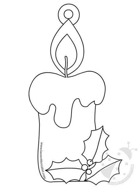 immagini candela addobbi di natale per bambini da stare e colorare