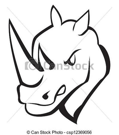 Rhino Artwork by Clipart Vector Of Rhino Csp12369056 Search Clip Art