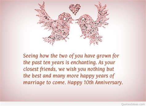 wedding anniversary year 10 10 year service anniversary quotes quotesgram