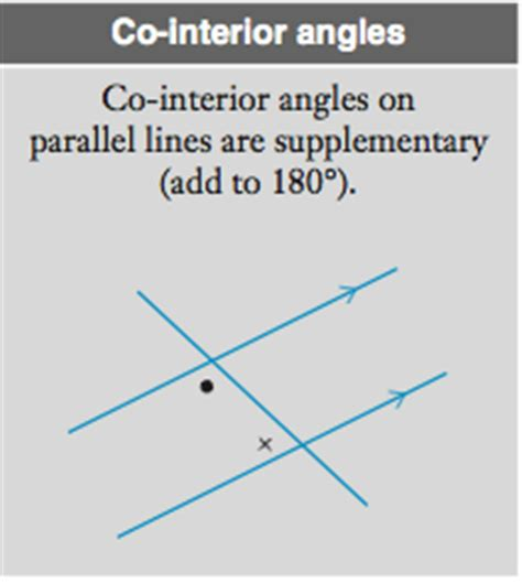co interior angle relationships a angles and parallel lines year 8 maths