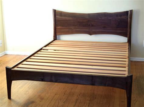 walnut bed frame walnut platform bed frame homely and welcoming walnut