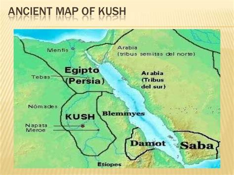 africa map kush kush civilization pyramids