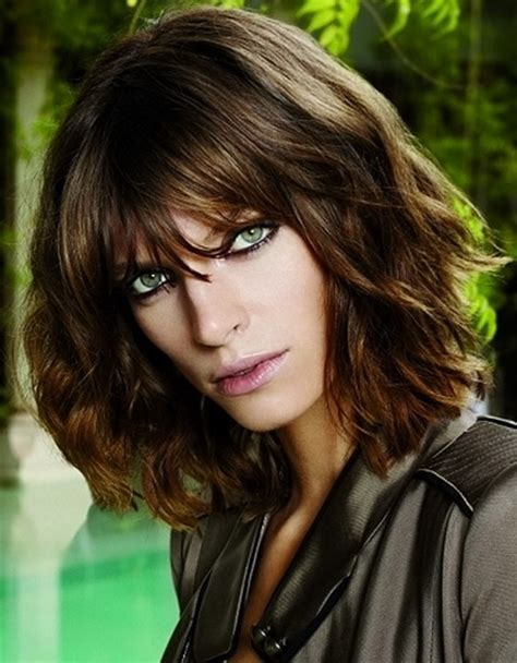 hair cut with bangs middle aged easy to style medium haircuts