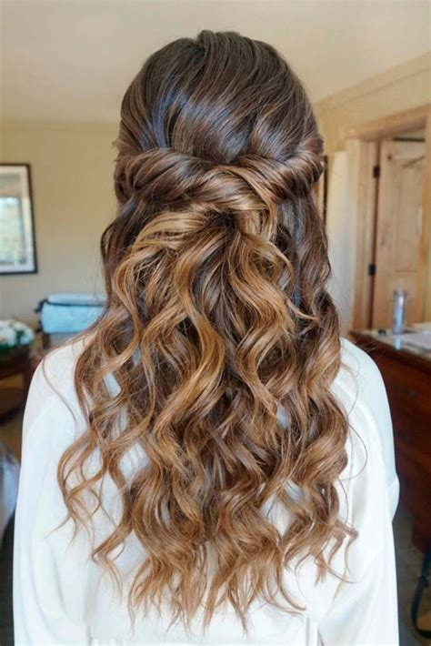 half up half down hairstyles for bridesmaids 24 chic half up half down bridesmaid hairstyles