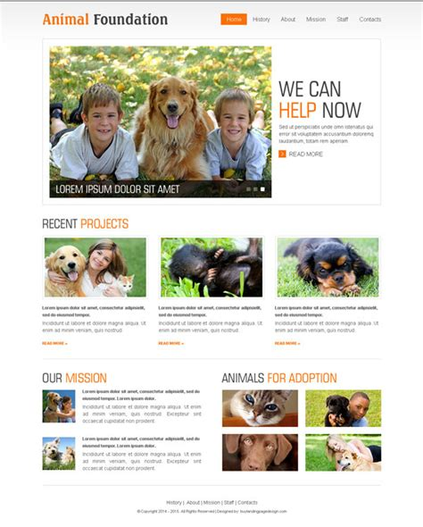 Create Website With Html Templates On 25 Discount Offer Animal Website Templates