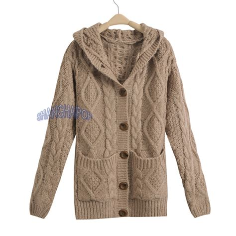 chunky cable knit cardigan sweater hooded cardigan cable knit chunky jumper sleeve