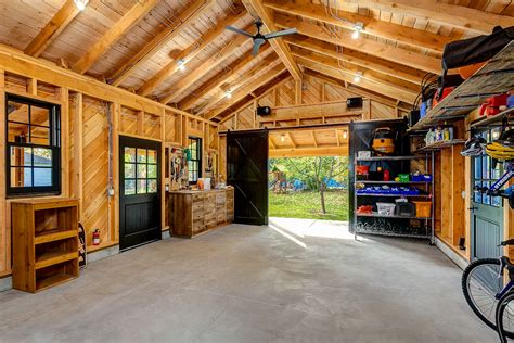 pics inside 14x30 house inside garage with translucent garage doors garage modern