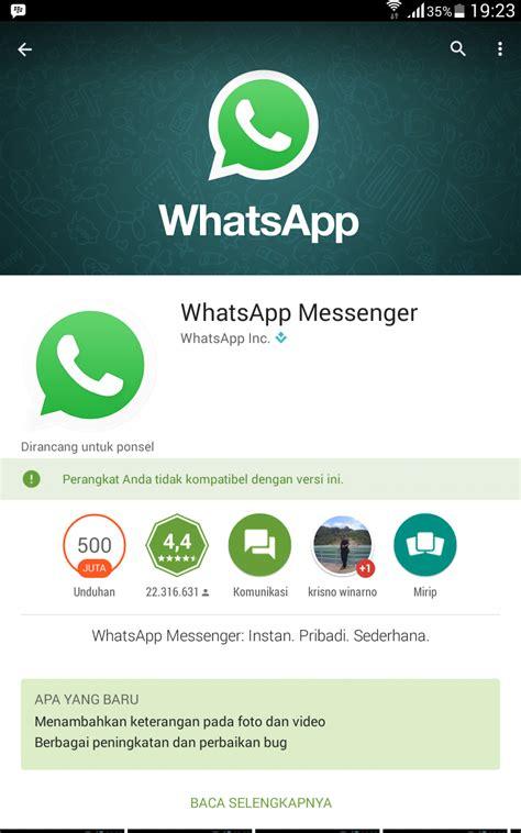 tutorial penggunaan whatsapp cara menghubungkan aplikasi whatsapp di samsung galaxy tab