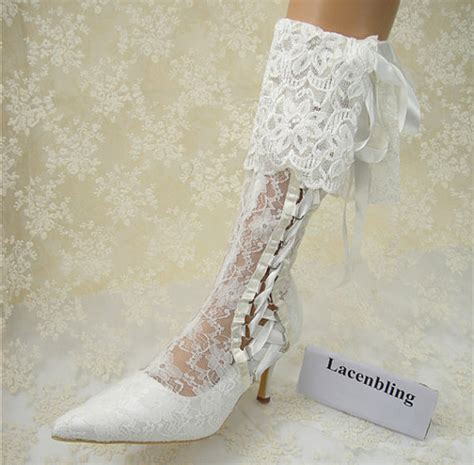 Bridal Shoe Boots by Wedding Shoes Vintage Lace Bridal Boots Lace Bridal