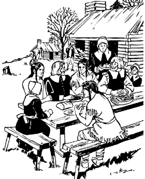 thanksgiving feast coloring page crayola com