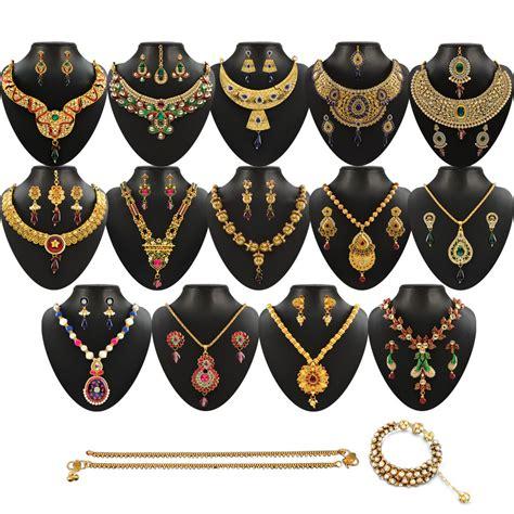 Lu 16 Set buy rangoli 16 heavy jewellery set by vellani at best price in india on naaptol