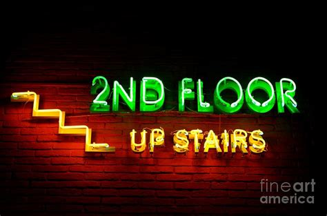 2nd floor upstairs neon photograph by dean harte