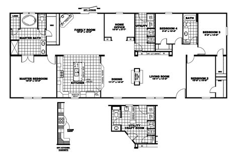 clayton homes floor plans manufactured home floor plan 2009 clayton della 28mmd32764am09