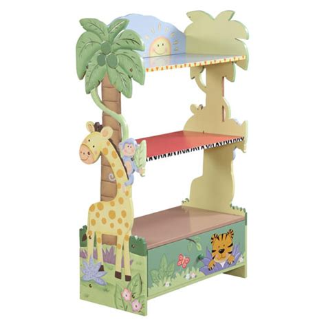 Teamson Magic Garden Bookcase Keep Your Kid S Room Tidy With Colorful Bookshelf