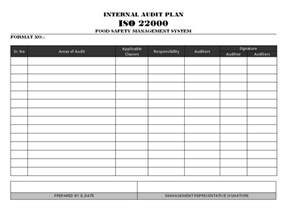 audit schedule template iso 9001 audit plan iso 22000 format sles word