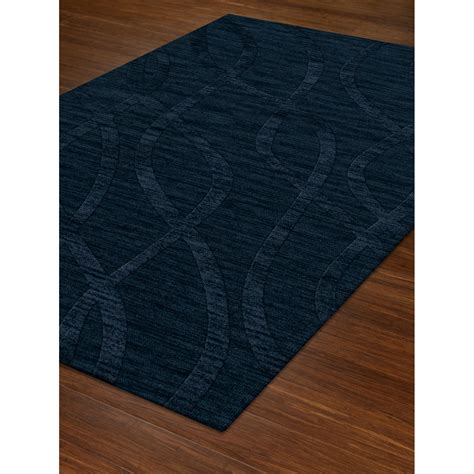 Dover Dv10 Navy Rectangular 9 X 12 Ft Area Rug Dalyn 10 X12 Area Rug