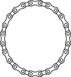 Bike Chain Outline chain links clip at clker vector clip royalty free domain