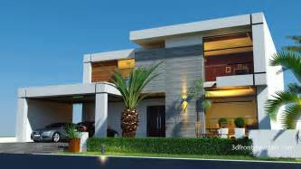 contemporary house plan 3d front elevation beautiful contemporary house